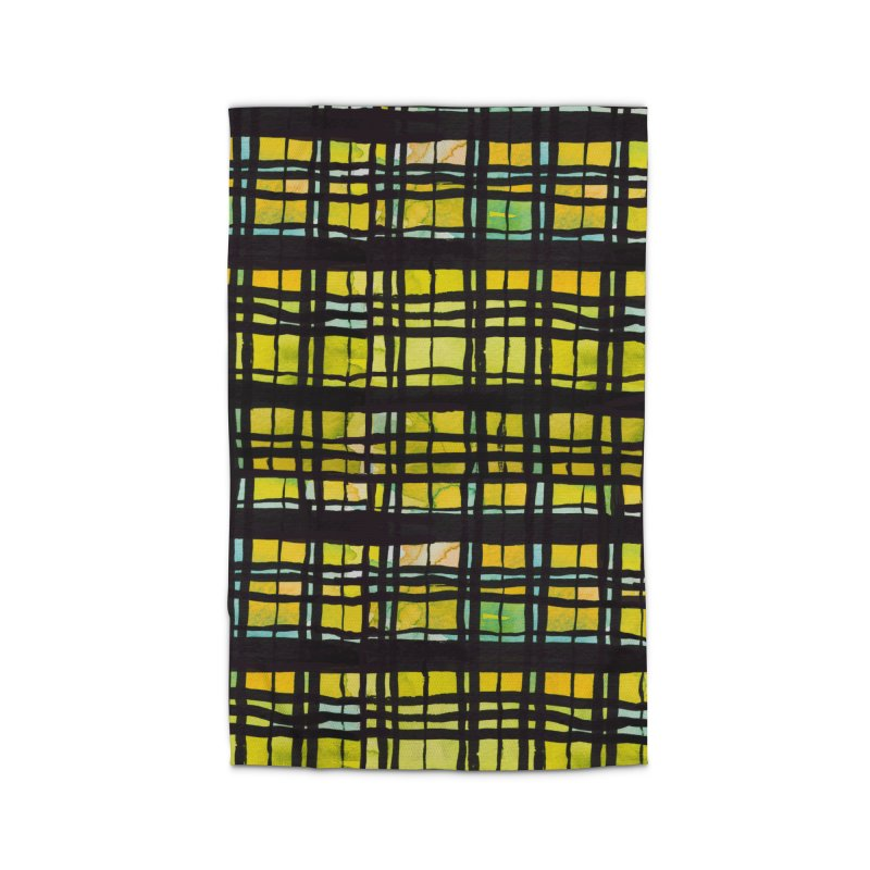 Yellow and Black Plaid Home Rug by Cactus Branch