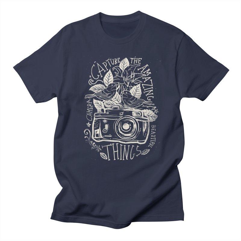 Capture the Amazing Things Men's T-shirt by cadzart's Artist Shop
