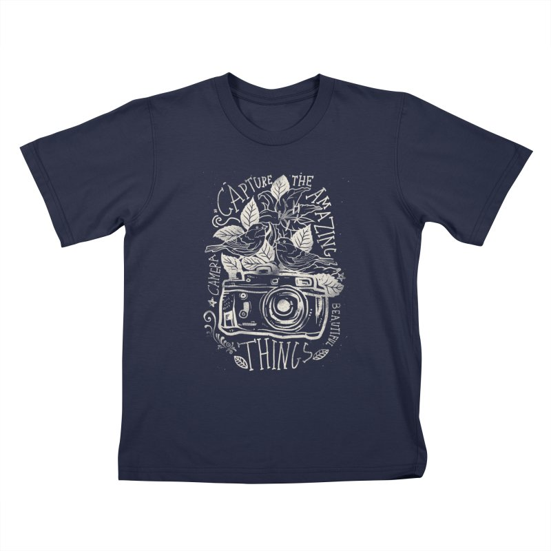 Capture the Amazing Things Kids T-shirt by cadzart's Artist Shop