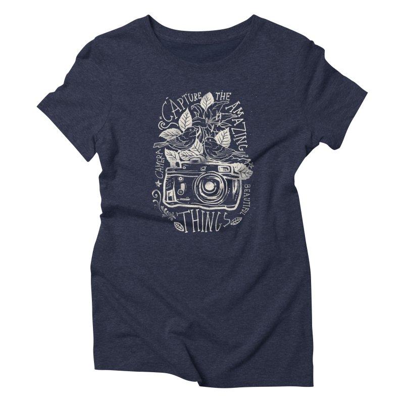 Capture the Amazing Things Women's Triblend T-Shirt by cadzart's Artist Shop