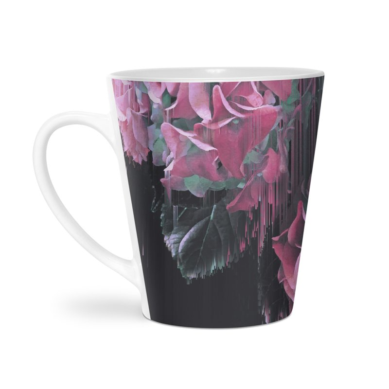 Glitch Pink Hydrangea Accessories Latte Mug by cafelab