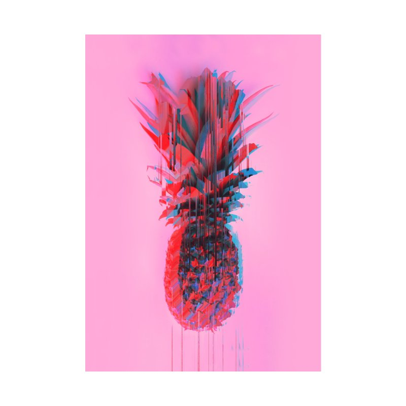 Glitched Pineapple on Pink by cafelab