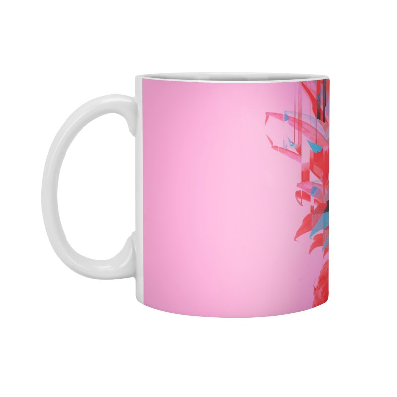 Glitched Pineapple on Pink Accessories Mug by cafelab's Artist Shop