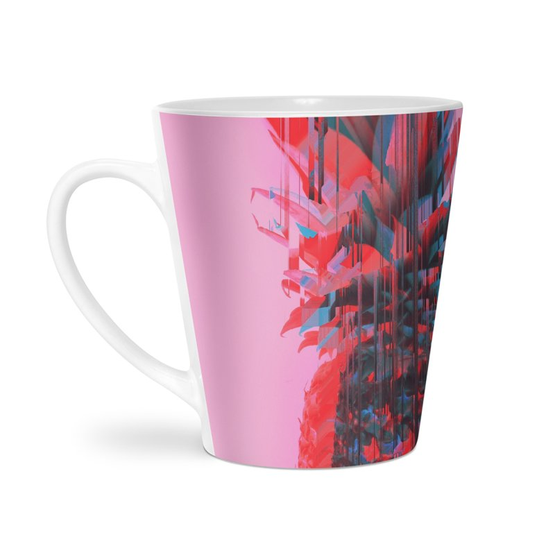 Glitched Pineapple on Pink Accessories Mug by cafelab