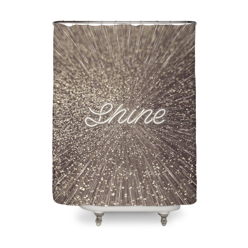 Shine Home Shower Curtain by cafelab