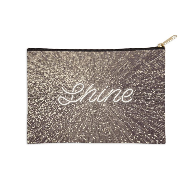 Shine Accessories Zip Pouch by cafelab's Artist Shop