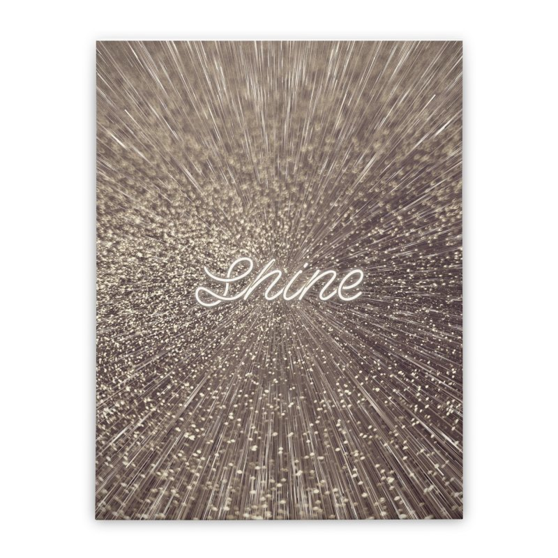 Shine Home Stretched Canvas by cafelab