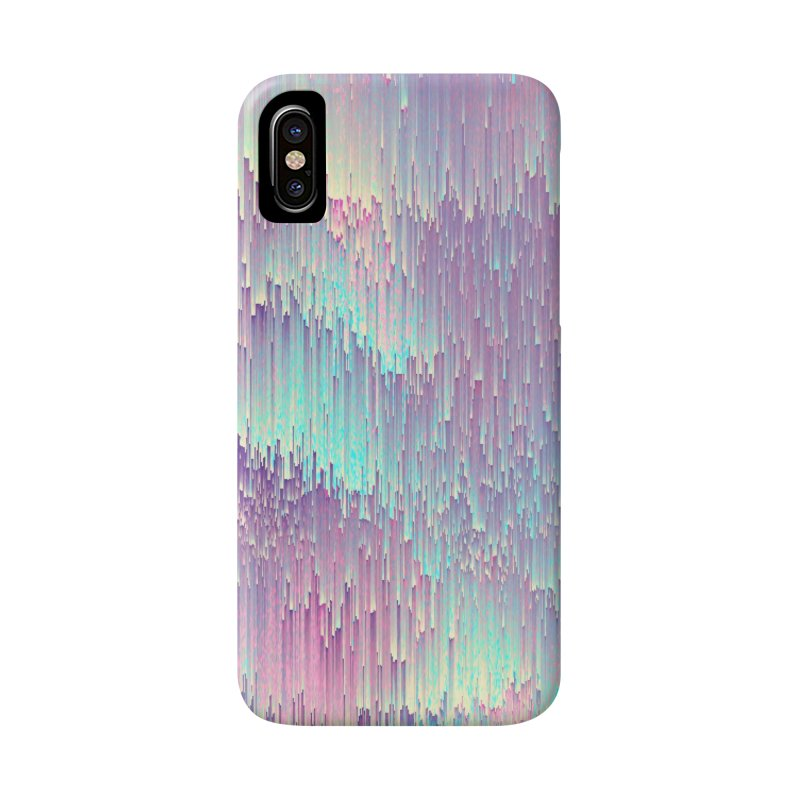 Iridescent Glitches Accessories Phone Case by cafelab