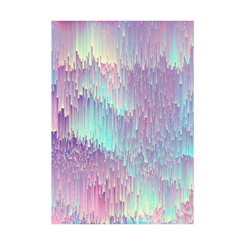 Iridescent Glitches Home Shower Curtain by cafelab