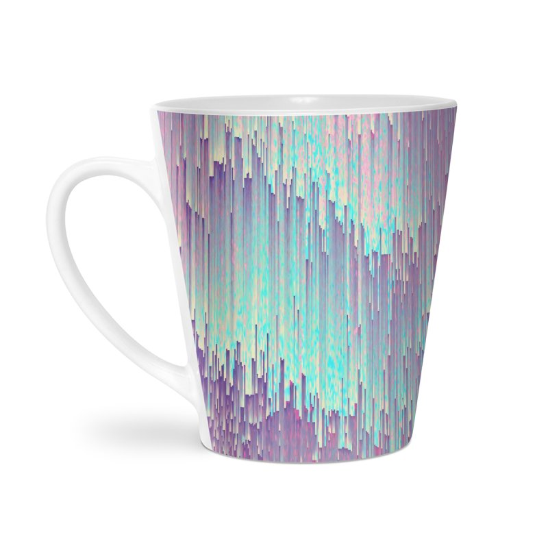 Iridescent Glitches Accessories Latte Mug by cafelab