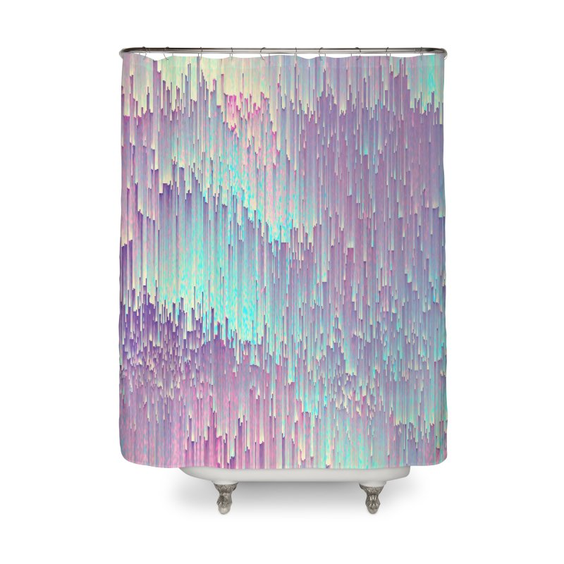 Iridescent Glitches Home Shower Curtain by cafelab's Artist Shop