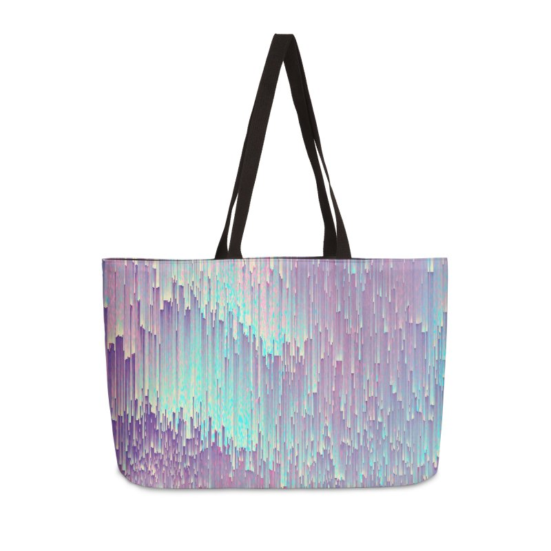 Iridescent Glitches Accessories Weekender Bag Bag by cafelab