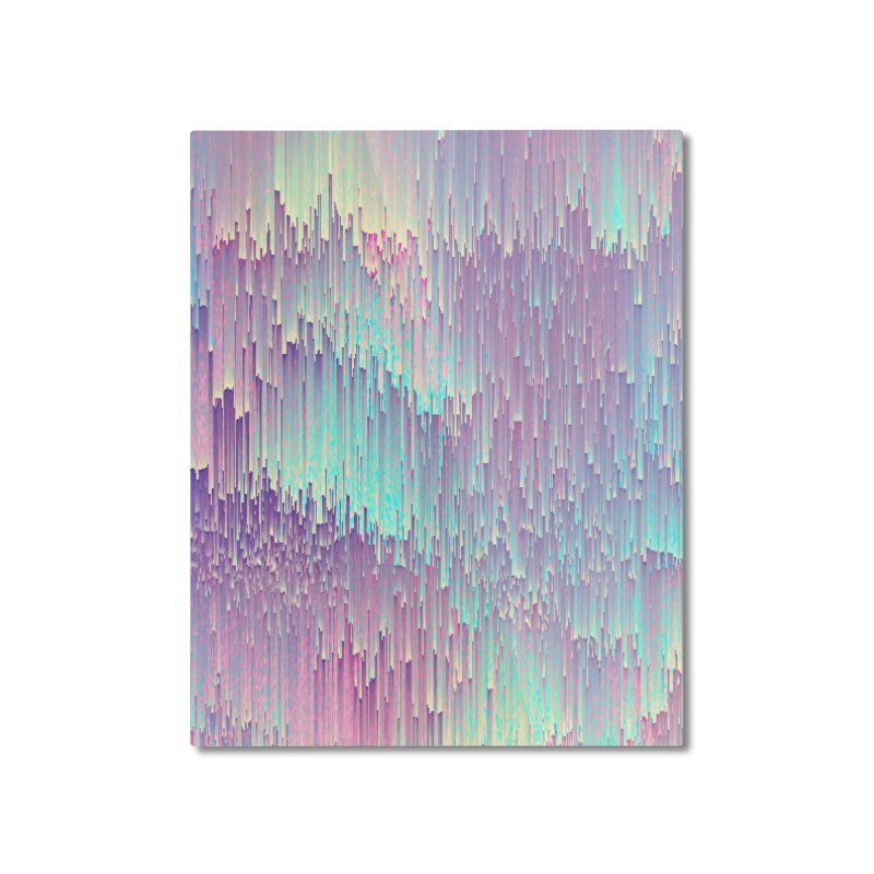 Iridescent Glitches Home Mounted Aluminum Print by cafelab
