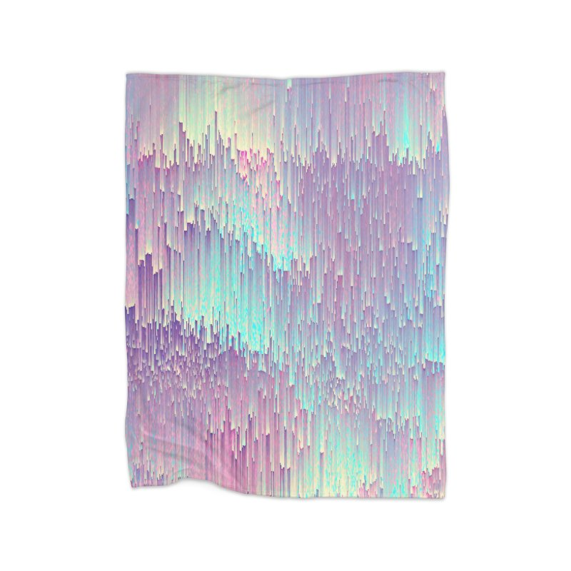 Iridescent Glitches Home Fleece Blanket Blanket by cafelab