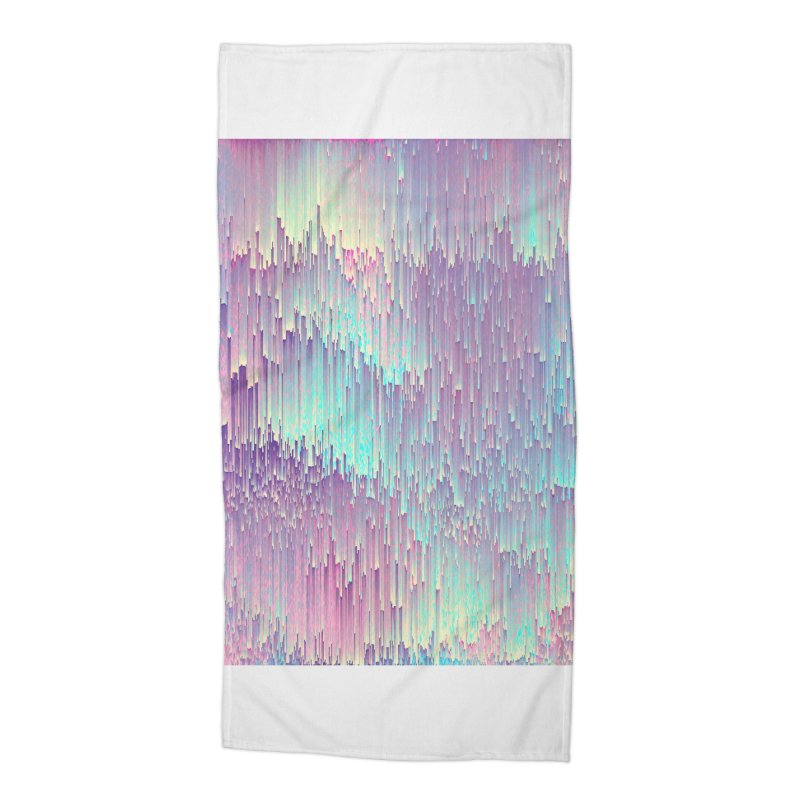 Iridescent Glitches Accessories Beach Towel by cafelab