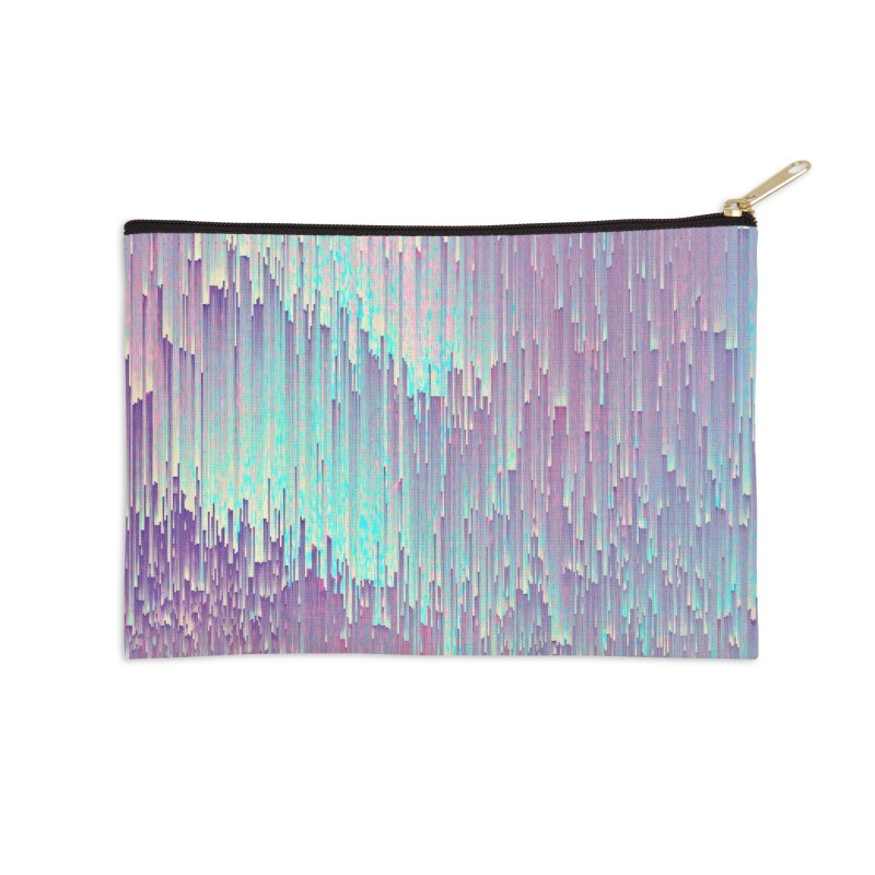 Iridescent Glitches Accessories Zip Pouch by cafelab