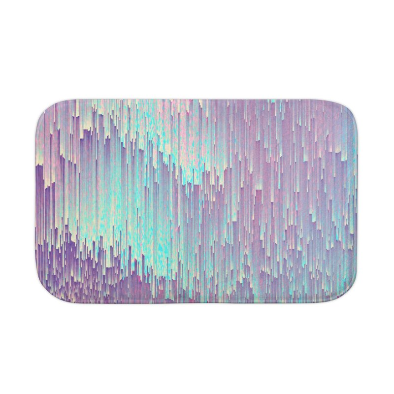 Iridescent Glitches Home Bath Mat by cafelab
