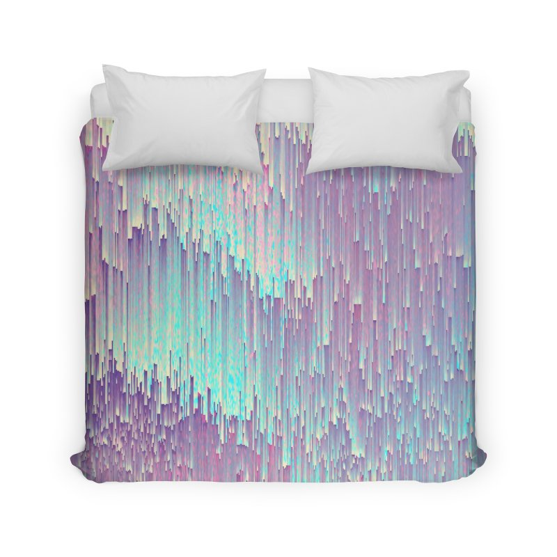 Iridescent Glitches Home Duvet by cafelab