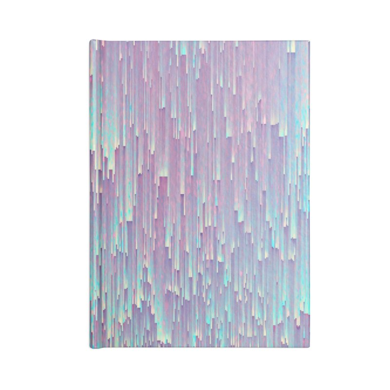Iridescent Glitches Accessories Lined Journal Notebook by cafelab