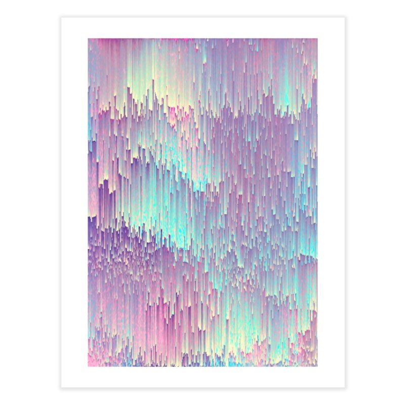 Iridescent Glitches Home Fine Art Print by cafelab