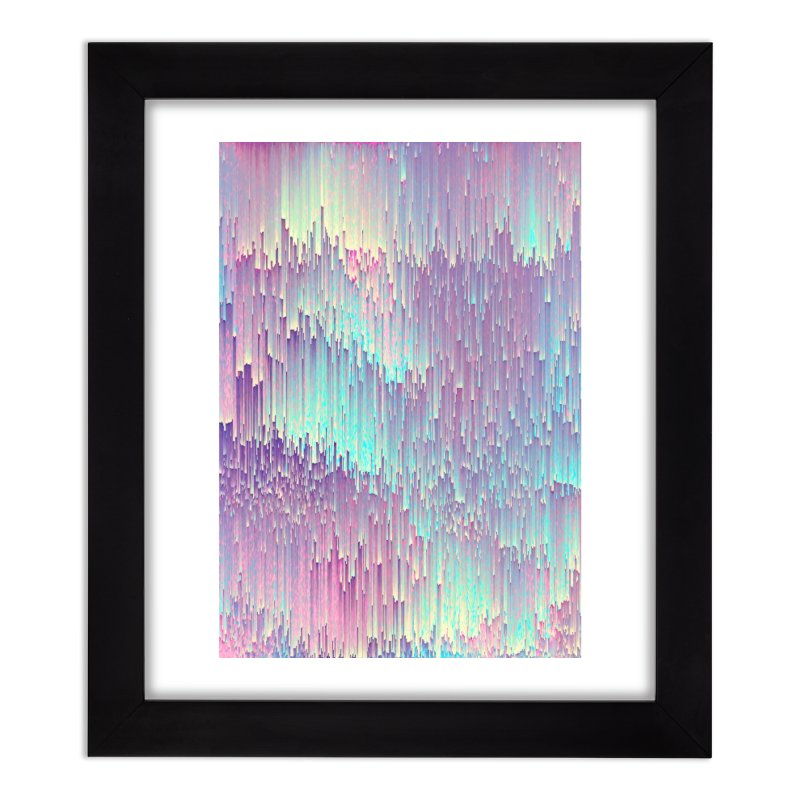 Iridescent Glitches Home Framed Fine Art Print by cafelab