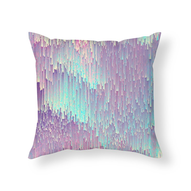 Iridescent Glitches Home Throw Pillow by cafelab