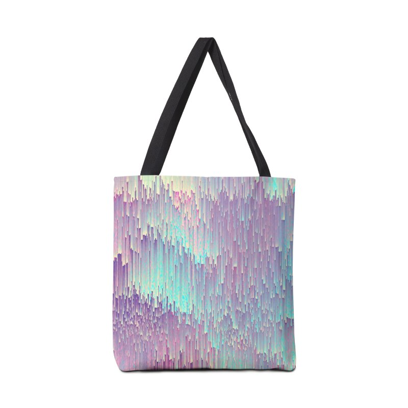 Iridescent Glitches Accessories Bag by cafelab