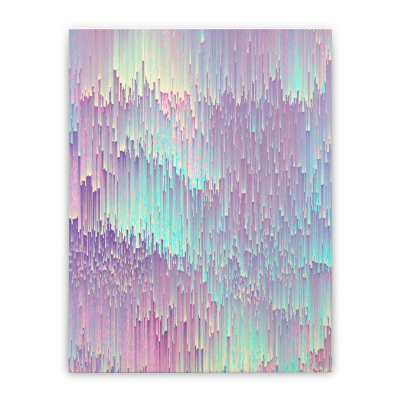 Iridescent Glitches Home Stretched Canvas by cafelab's Artist Shop