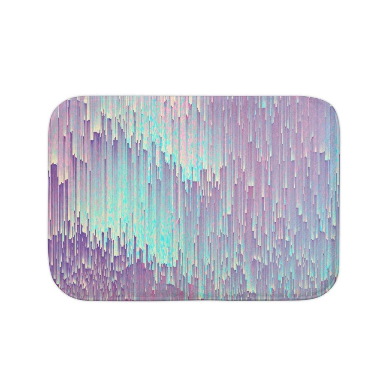 Iridescent Glitches Home Bath Mat by cafelab
