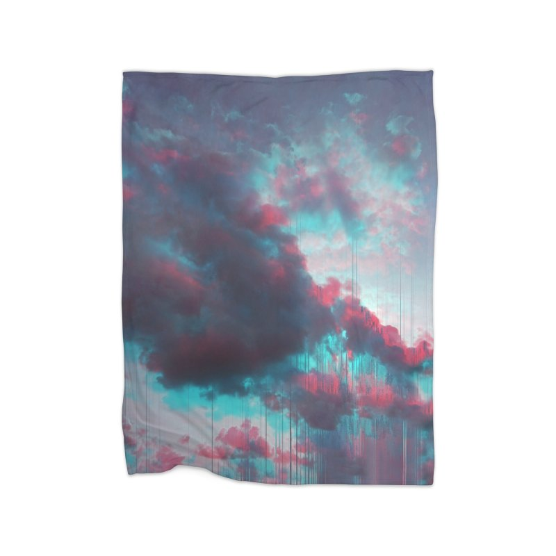 Rainy Day Home Fleece Blanket Blanket by cafelab