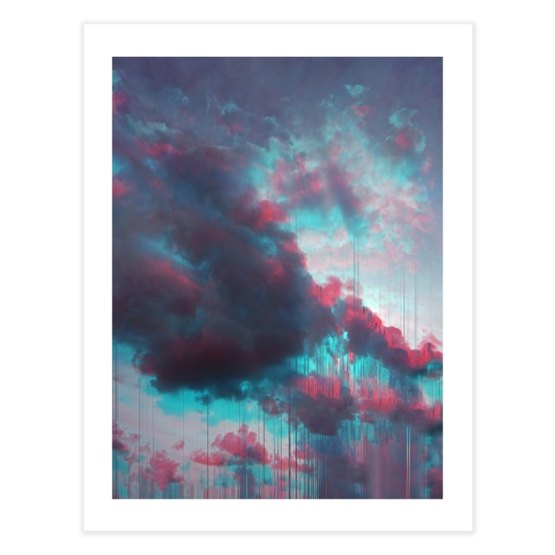 Rainy Day Home Fine Art Print by cafelab