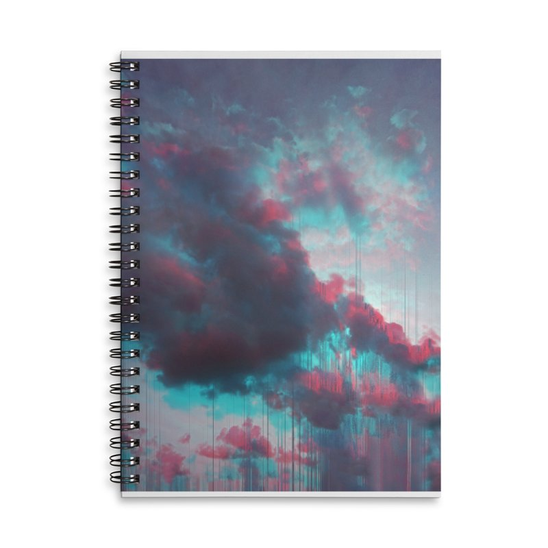 Rainy Day Accessories Lined Spiral Notebook by cafelab