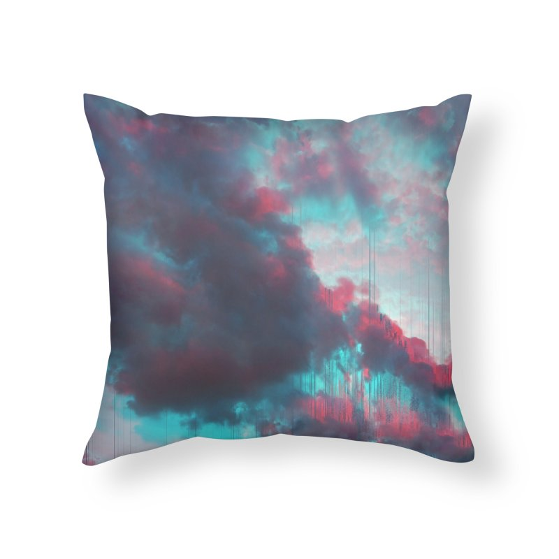 Rainy Day Home Throw Pillow by cafelab