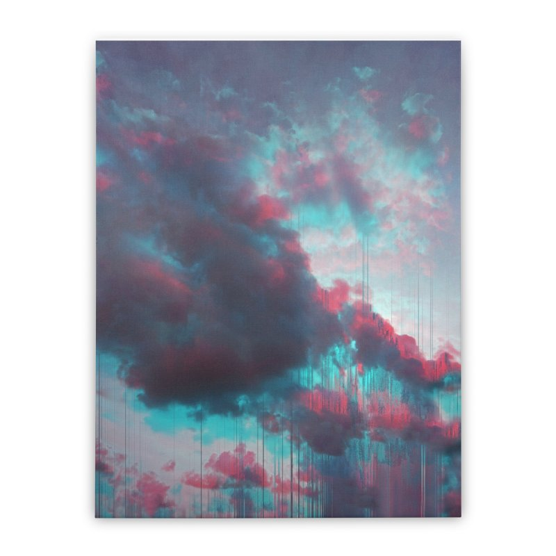 Rainy Day Home Stretched Canvas by cafelab's Artist Shop