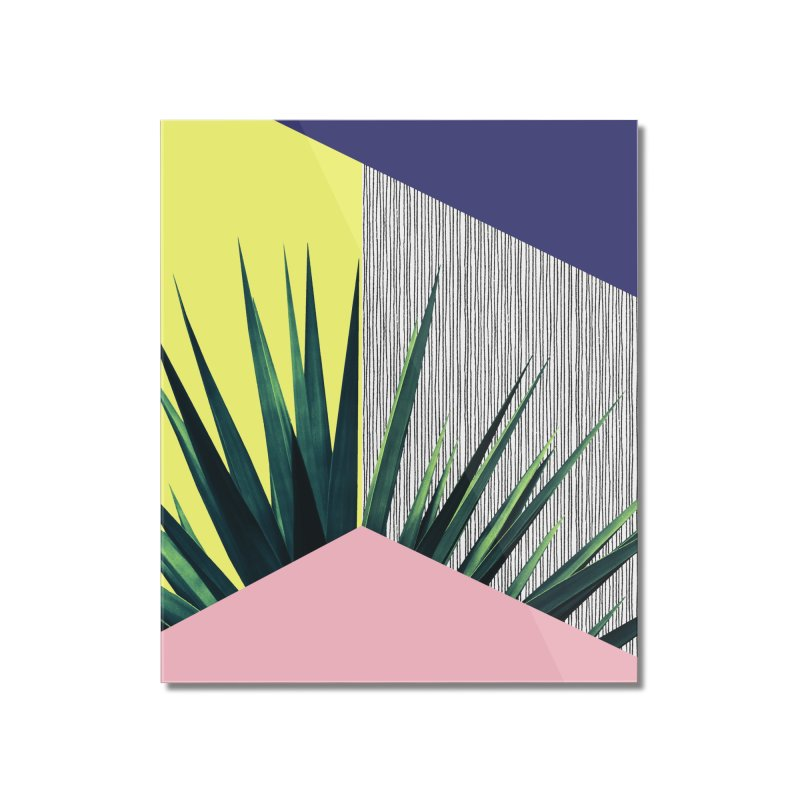 Geometric Leaves #1 Home Mounted Acrylic Print by cafelab