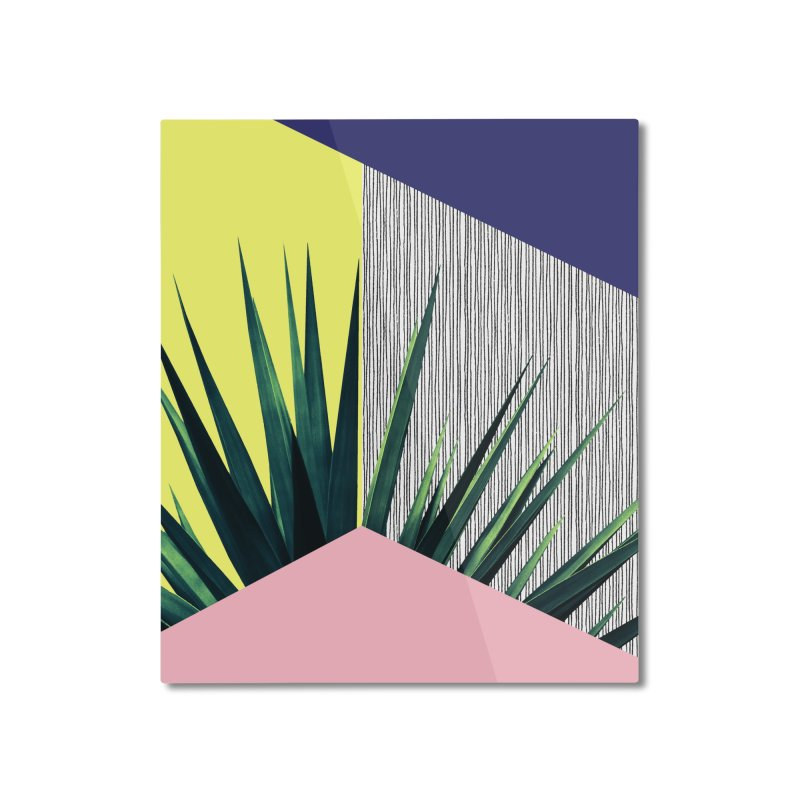 Geometric Leaves #1 Home Mounted Aluminum Print by cafelab