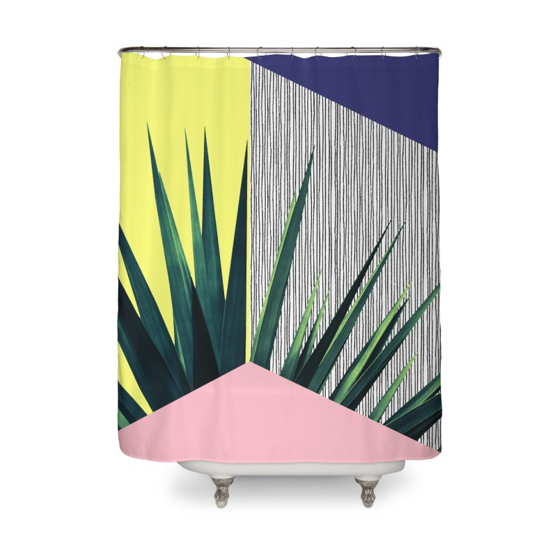 Geometric Leaves #1 Home Shower Curtain by cafelab