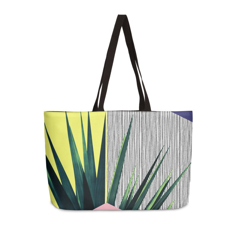 Geometric Leaves #1 Accessories Weekender Bag Bag by cafelab