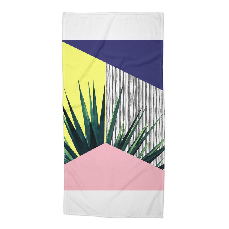 Geometric Leaves #1 Accessories Beach Towel by cafelab