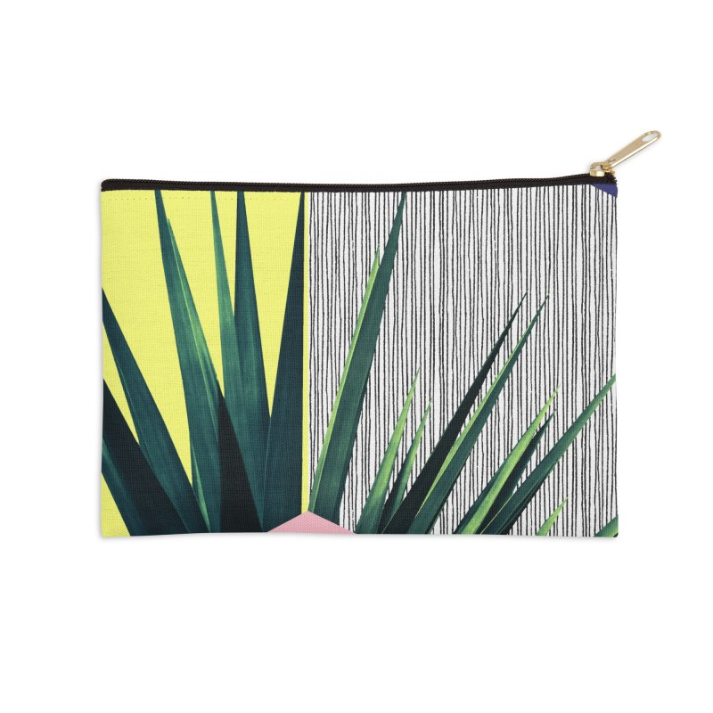 Geometric Leaves #1 Accessories Zip Pouch by cafelab's Artist Shop