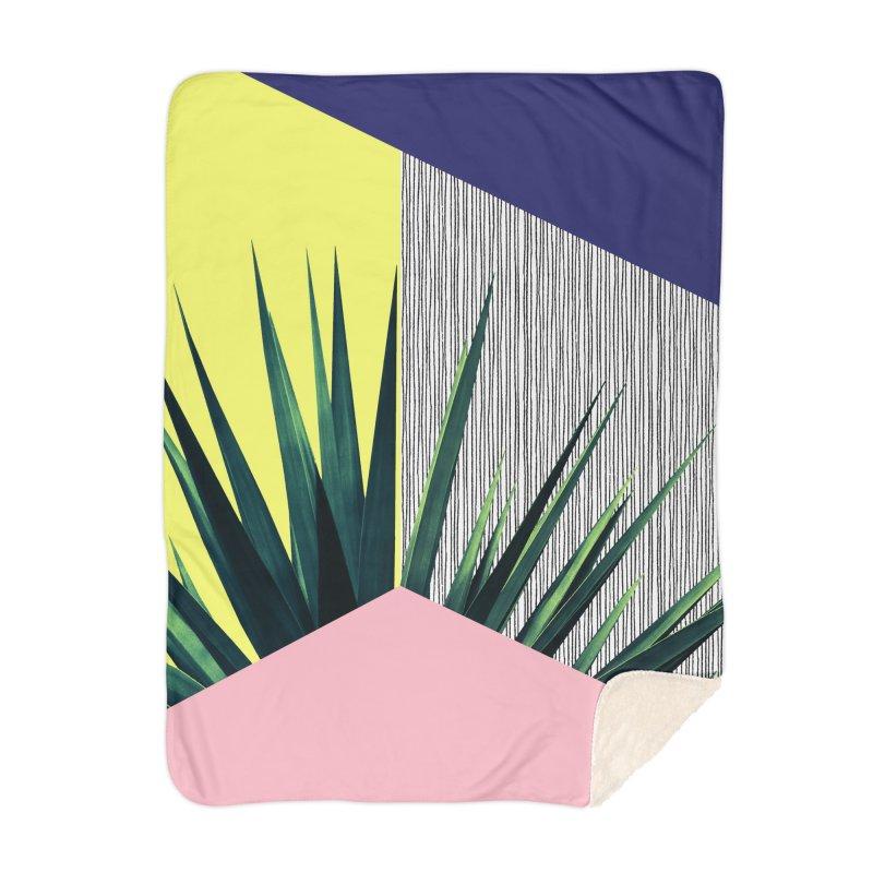 Geometric Leaves #1 Home Blanket by cafelab