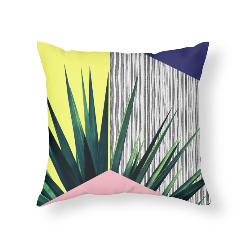 Geometric Leaves #1 Home Throw Pillow by cafelab