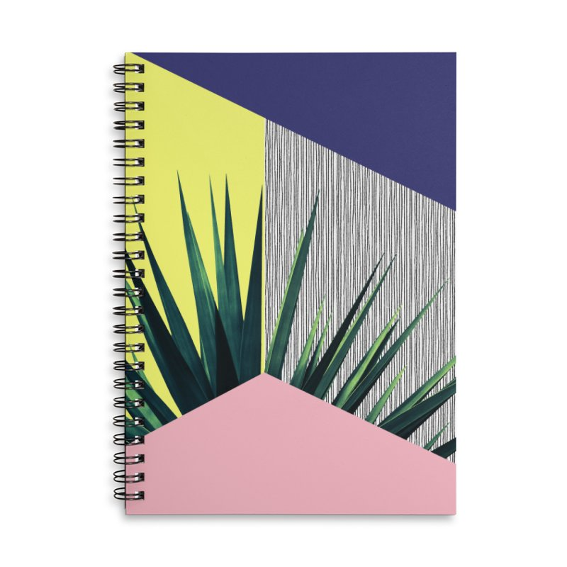 Geometric Leaves #1 Accessories Lined Spiral Notebook by cafelab