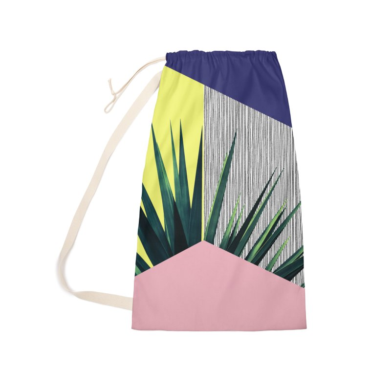 Geometric Leaves #1 Accessories Laundry Bag Bag by cafelab