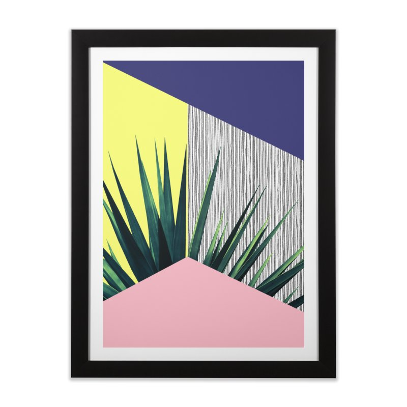 Geometric Leaves #1 Home Framed Fine Art Print by cafelab