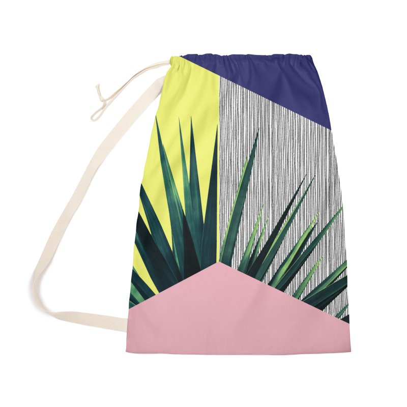 Geometric Leaves #1 Accessories Bag by cafelab