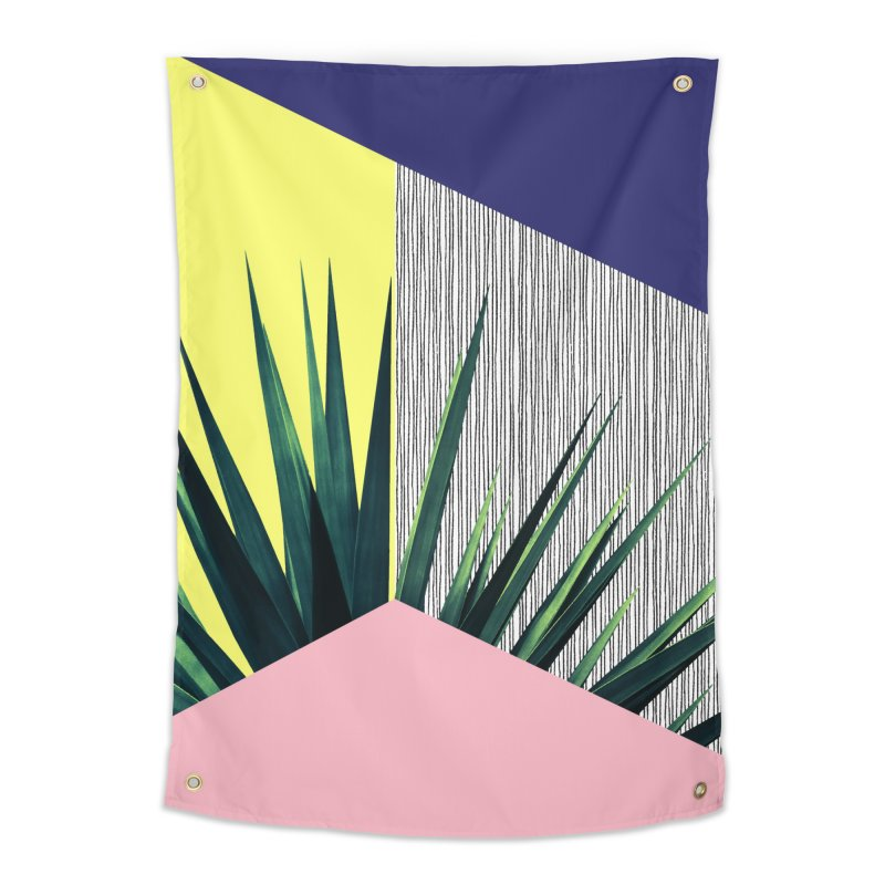 Geometric Leaves #1 Home Tapestry by cafelab