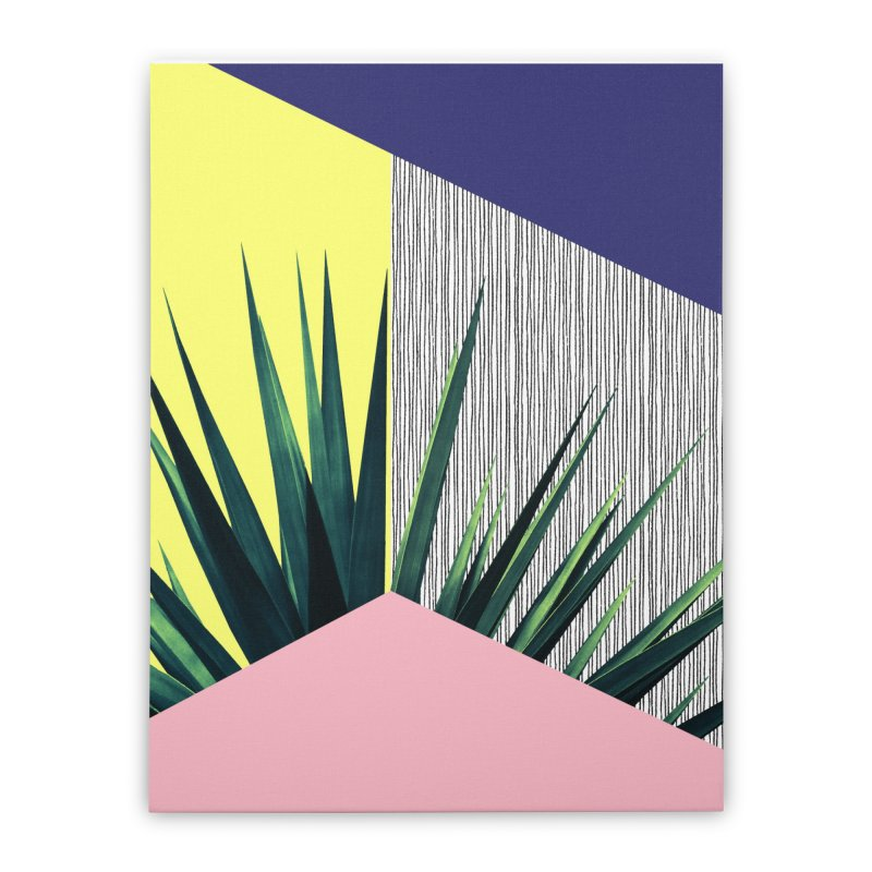 Geometric Leaves #1 Home Stretched Canvas by cafelab's Artist Shop