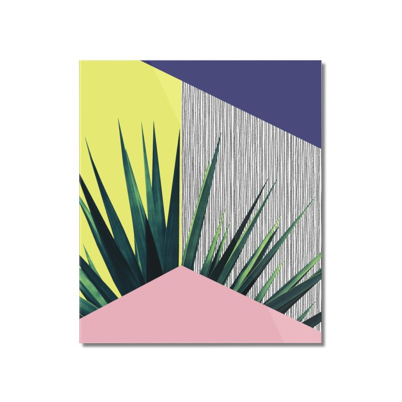 Geometric Leaves #1 Home Mounted Acrylic Print by cafelab's Artist Shop