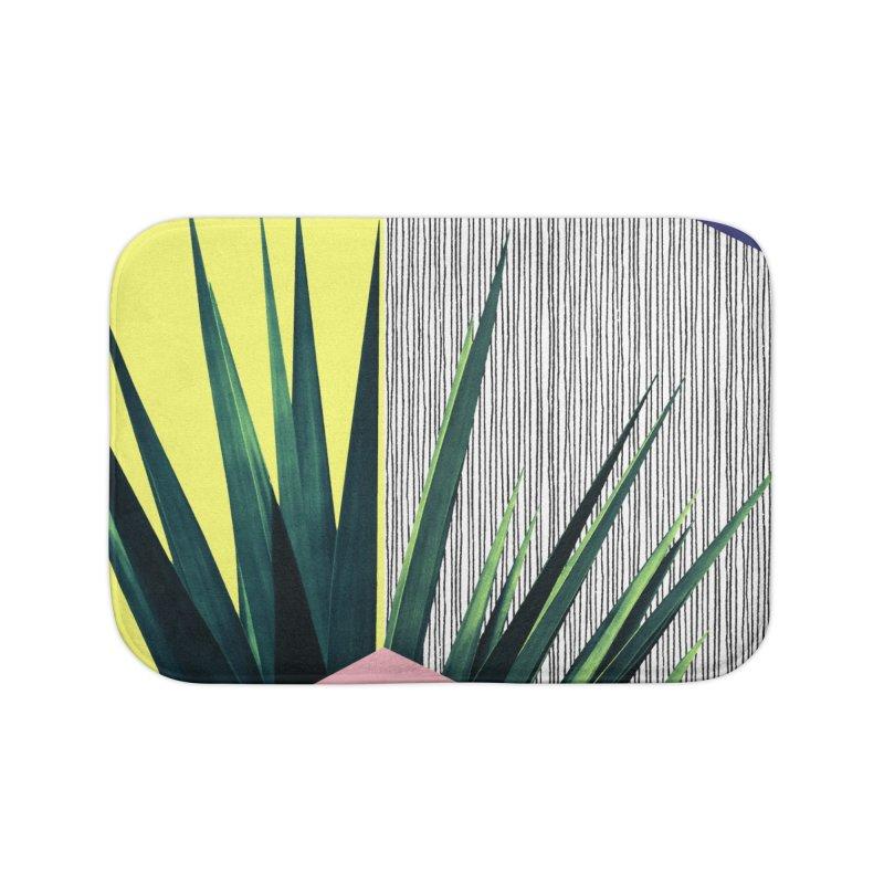 Geometric Leaves #1 Home Bath Mat by cafelab
